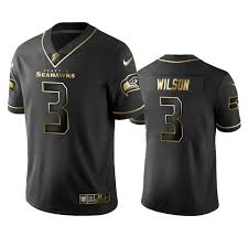 2019 Seahawks Russell Wilson Golden Edition Black Nfl 100th