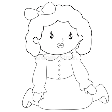 Small Picture Little Girl Sitting Coloring Page Stock Illustration Image 53482141