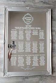 wedding seating chart mirror