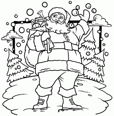 Small Picture Cold Santa Claus Coloring Pages Coloring Coloring Pages