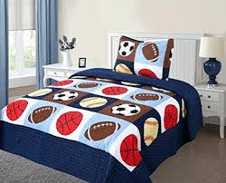 boys comforter set red white and blue bedding twin size 2 quilt bedspread kids sports childrens sets canada