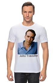 <b>Футболка классическая</b> John Travolta #415730 от Nikita Nelyubin ...