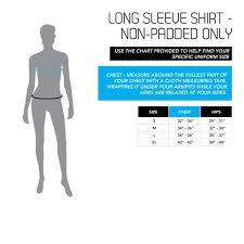Size Chart Womens Shirts Century Martial Arts