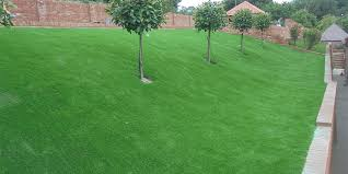 fitting artificial grass on a slope
