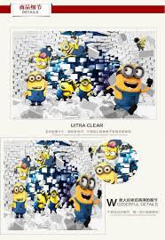Minion Wallpaper Bedroom Aliexpresscom Buy 3d Minions Photo Wallpaper Cartoon Despicable