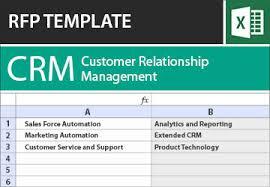 Excel Crm Templates Crm Rfp Templates Software Rfi Requirements Checklist In Excel Tec