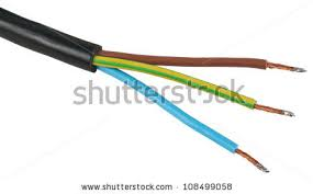 electric cable isolated stock images royalty images the bare wires of the electric power cable object is isolated on white background out