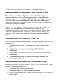 research paper on time management useful guidelines to stress  research paper on time management useful guidelines to stress outli