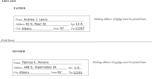 NYS DCSE   Providers: How To Complete the Acknowledgment of ... Parents' addresses on back of form