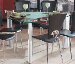 Round Table Tracy Round Bar Table Glass Top Kitchen Furniture Rustic Kitchen Table