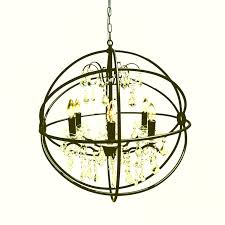 wrought iron orb chandelier black cebc edf ce affdf photos