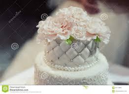 Beautiful White And Colored Wedding Cake Stock Photo Image Of