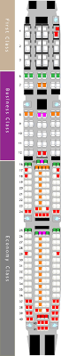 Airbus A340 500 Seating Chart Emirates Airbus A340 500 Seat Map