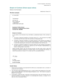 Breach Of Employment Contract Breach Of Contract Letter Template Ingyenoltoztetosjatekok 18