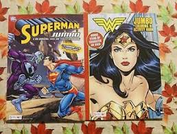 Wonder woman at the top for adult. Bendon Dc Comics Wonder Woman Superman 2 Jumbo Coloring Activity Books 805219429938 Ebay