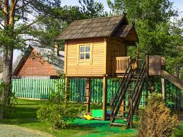 kids tree house for sale. The Tree House With A Staircase And Slide For Children\u0027s Games Kids Sale N