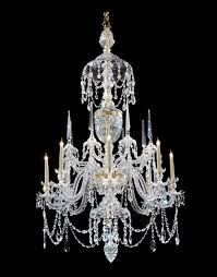 a george iii ormolu mounted cut glass eight light chandelier attributed to parke