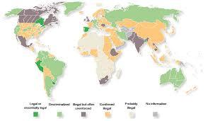 marijuana legal map world