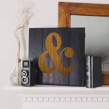 cathys concepts personalized rustic ampersand wooden wall