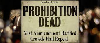 Image result for The 18th Amendment was repealed in 1933.