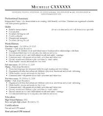 Nanny Resume Template Adorable Nanny Resume Example Resume For A Nanny Sample Nanny Resume Unique