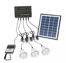 4W Solar Panel Lighting Home System Kit Usb Charger With 3 Led Solar Power Lighting Kits