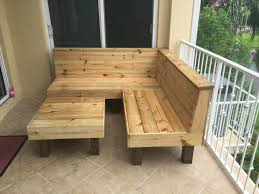 the sectional rustic wood patio benches and table or ottoman makes a 6x6 sectional rustic furniture64 patio