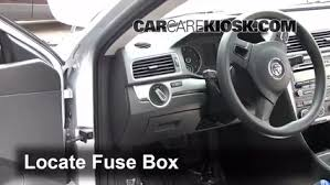 interior fuse box location 2012 2016 volkswagen passat 2012 locate interior fuse box and remove cover