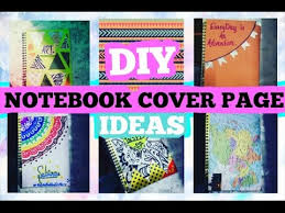 art cover page ideas diy notebook cover page ideas thecutebuddingcrafter youtube