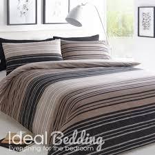pieridae textured brown stripe duvet quilt bedding cover and pillowcase bedding set duvet sets complete bedding sets bed sheets pillowcase