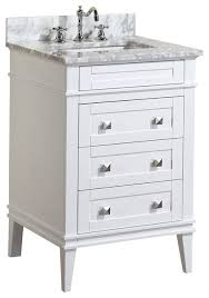 24 in vanity with sink. eleanor bathroom vanity with carrara top, white, 24\ 24 in sink