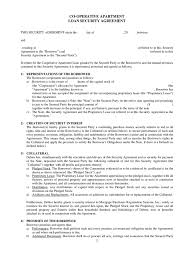 Security Agreement Template Agreement Security Agreement Form 1
