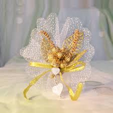 Hochzeitsmandel Goldene Blume Vom Herzen Schenken