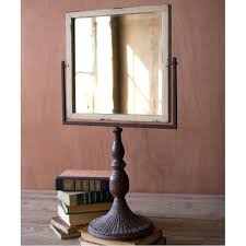 table top mirror iron tabletop stand mirror