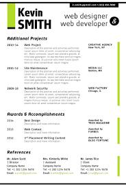 Web Designer Resume Template 4 Blue Techtrontechnologies Com