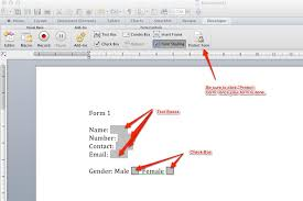 Forms For Word macos How to create forms in Word 100 for Mac Super User 44