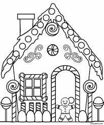 Printable Gingerbread House Coloring Pages For Kids And ...