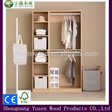 2015 3 Door New Design MDF Furniture Bedroom Wardrobes Without Doors