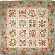 Flowers From My Garden Applique Quilt Pattern by from My Heart To ... & Flowers From My Garden Applique Quilt Pattern by Lori Smith Adamdwight.com
