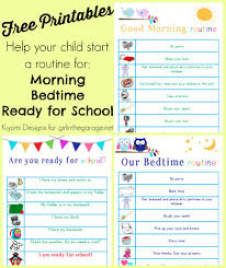 Free Printable Morning Routine Charts With Pictures Free