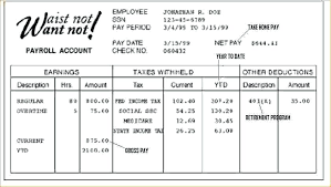 Payroll Check Stub Template Free Fake Pay Stubs For Apartment How To Make Fresh Blank Check Stub