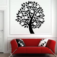 photo frame family tree wall decal vinyl removable art wall stickers self adhesive diy wallpaper creative on family tree wall art picture frame with photo frame family tree wall decal vinyl removable art wall stickers