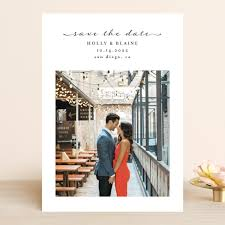 Simple Elegant Save The Date Cards by Chasity Smith   Minted