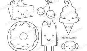 Kawaii Food Coloring Pages Printable