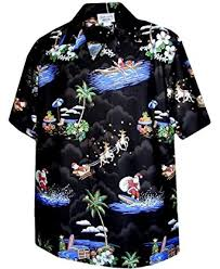 Christmas Santa Claus Hawaiian Shirt at Amazon Men's Clothing ...