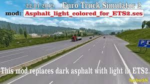 Light Colored Asphalt Road Asphalt For Ets2 1 33 X Mod Ets2 Mod