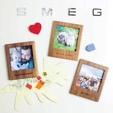 personalised wooden magnetic frame with stand