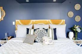 guest bedroom colors 2014. navy + gold guest bedroom decorating ideas on polkadotchair.com colors 2014