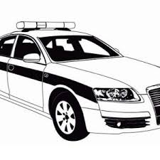 Small Picture Police Car Patrol on the Road Coloring Page Color Luna