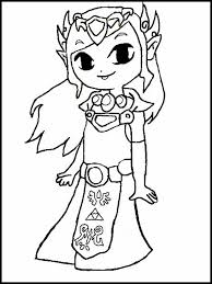 Mario game coloring page from mario category. Zelda Coloring Pages 1